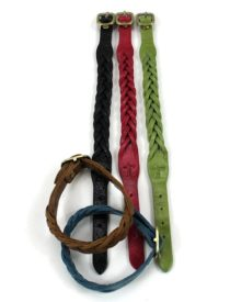 Woven leather bracelets