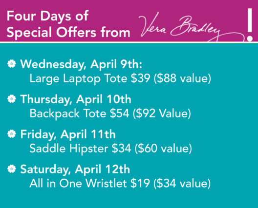 four-days-of-vera-bradley-sales