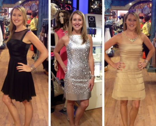black-silver-gold-cocktail-dresses