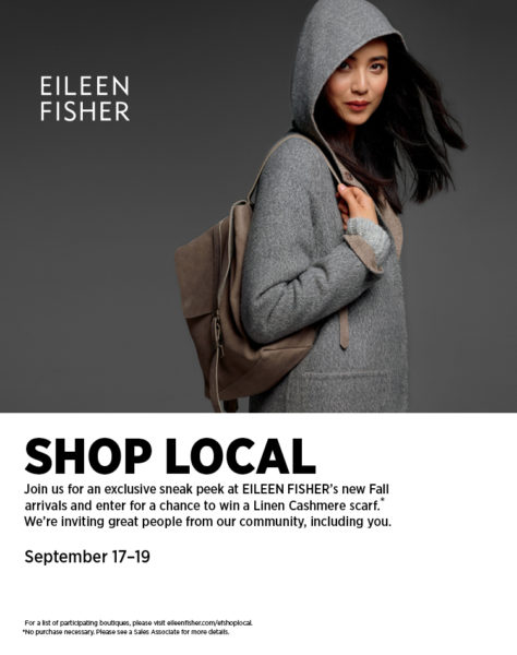Woman wearing Eileen Fisher