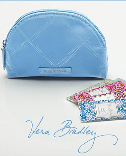 Vera Bradley preppy poli mini cosmetic case