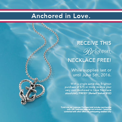 Brighton Anchored in Love necklace