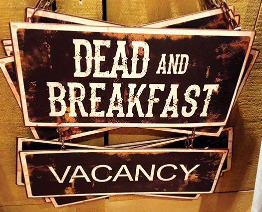 Dead and breakfast Halloween sign