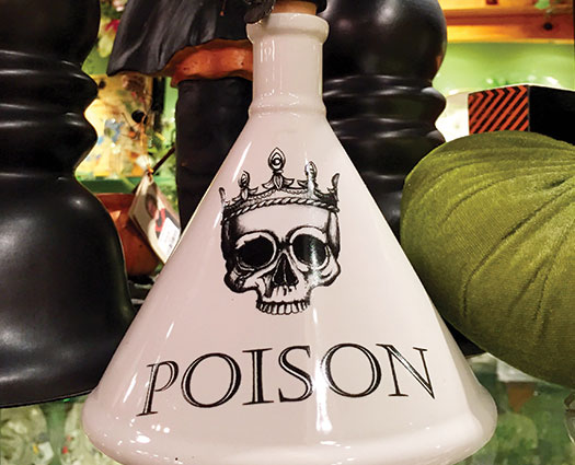 Halloween poison jar