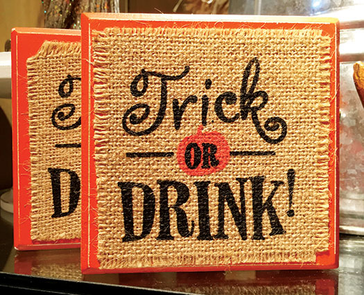 Halloween trick or drink