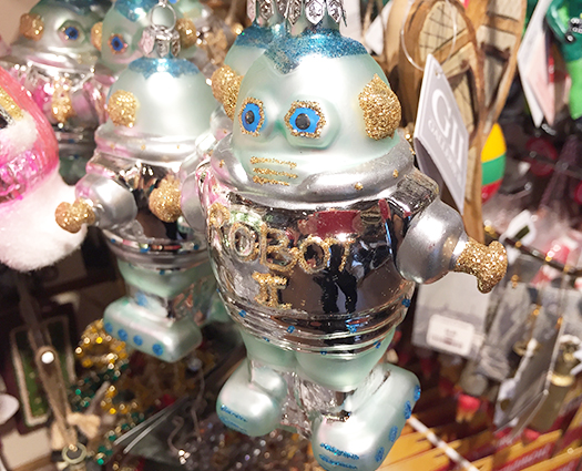 Christmas robot ornament