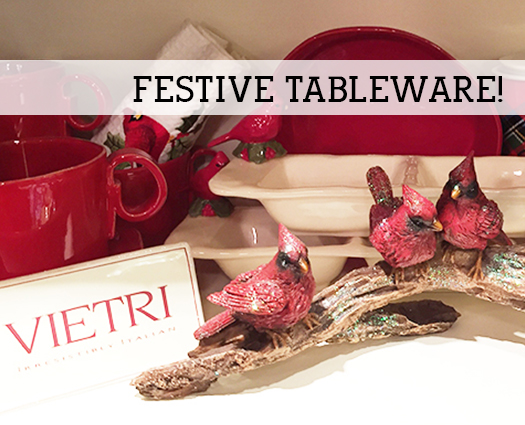 Christmas table serveware