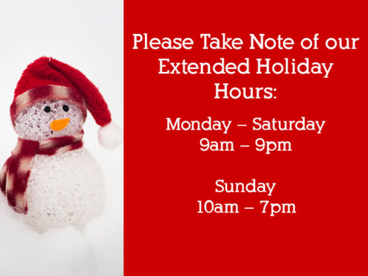 Extended Christmas season hours