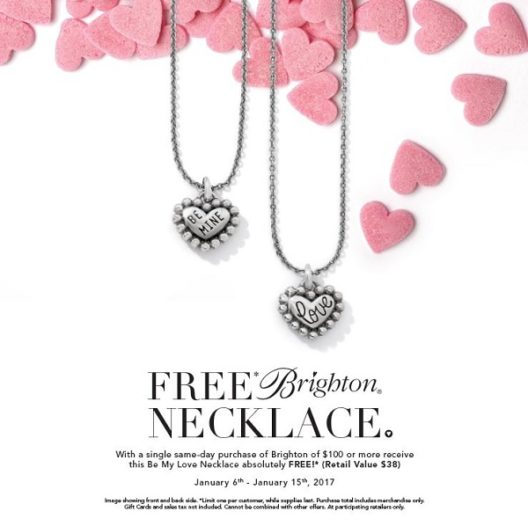 Free Brighton Be My Love necklace
