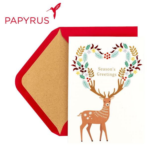 "Card with message ""Season's Greetings"""