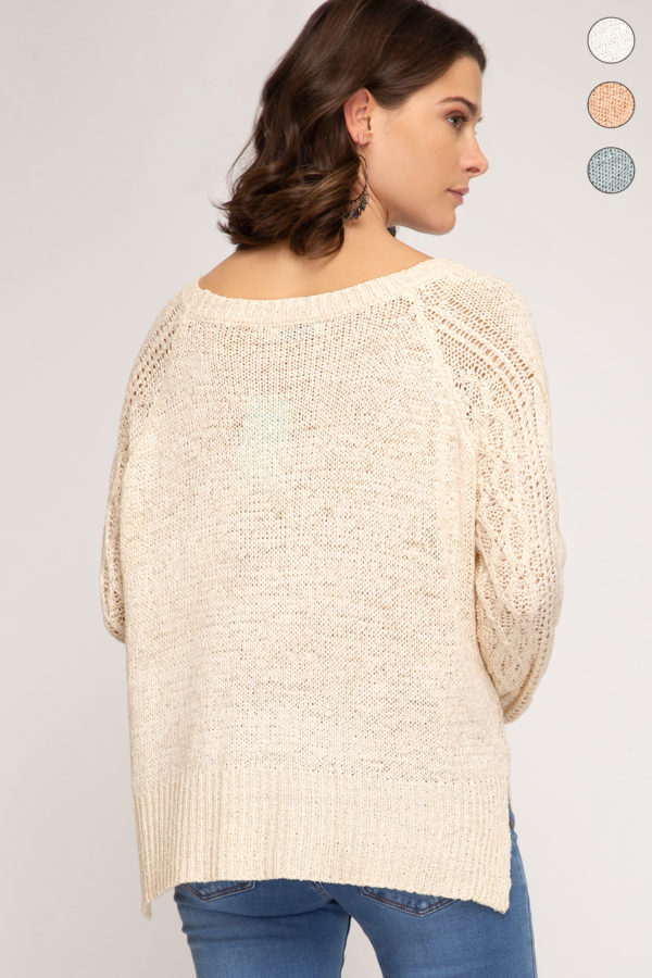 texture sweater back
