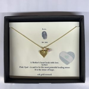Mothers Heart Necklace - gold