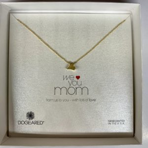 We love you mom necklace