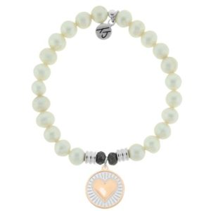 White Pearl Heart of Gold